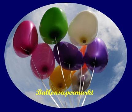 Große bunte Herzluftballons in 40 -45 cm Durchmesser