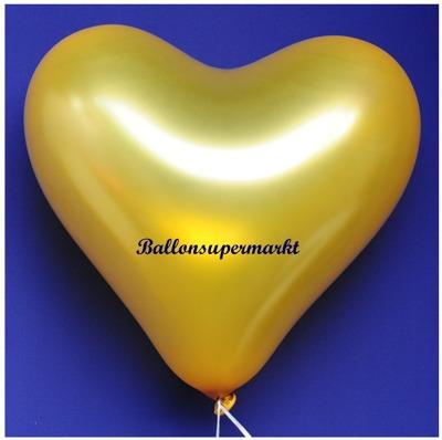 Herzluftballon, 40 bis 45 cm, Gold
