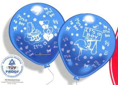 Luftballons Geburt Feiern Sie den willkommenen Sohn