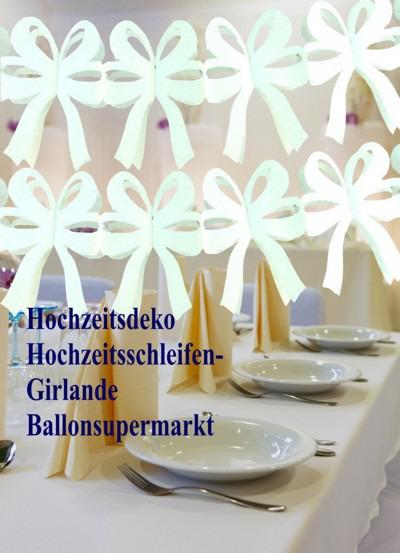 Dekoration-Hochzeit-Hochzeitsschleifengirlande
