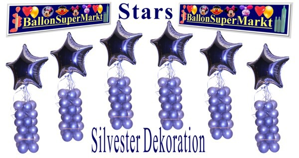 Silvester-Dekoration-Stars