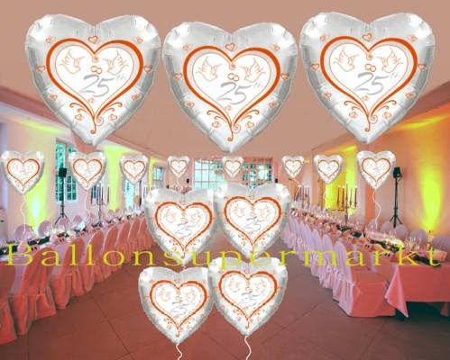 Silberne-Hochzeit-Dekoration-Luftballons-Folienballons-25