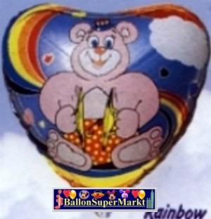 Folienballon Regenbogen-Bär
