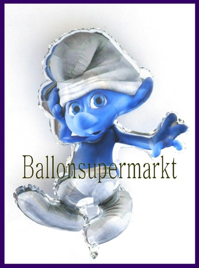 Schlumpf-Luftballon-aus-Folie