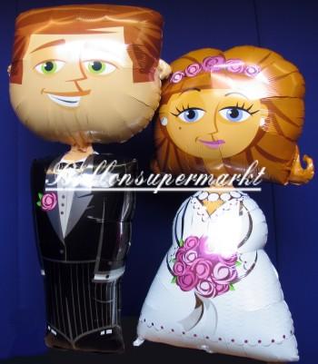Hochzeitspaar Folienballons Airwalker