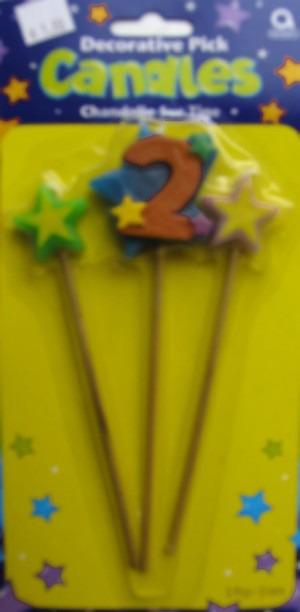 Geburtstagskerze Geburtstagszahl 2