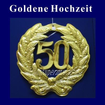 Dekoration Goldene Hochzeit Dekohänger Zahl 50