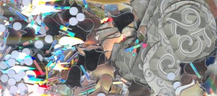 Konfetti Silberhochzeit