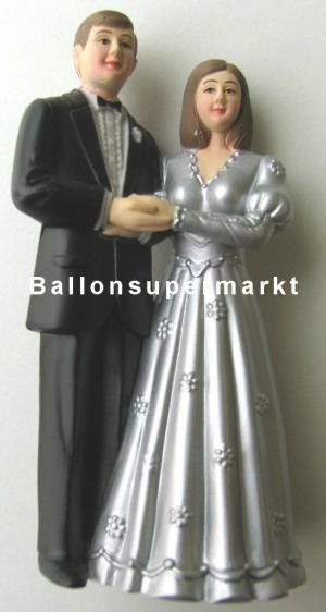 Hochzeitspaar Hochzeitsdeko, Dekoration, Tischdekoration Silberne Hochzeit