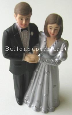 Hochzeitspärchen Tischdeko Hochzeitsfest, Silberhochzeit