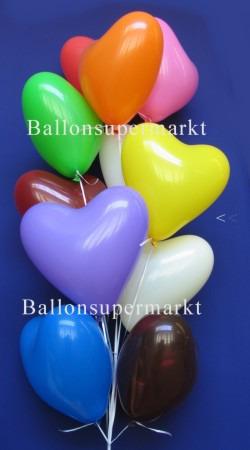 Herzballons Gelb
