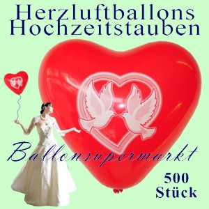Herzluftballons-Hochzeitstauben-500-Luftballons-Herzen