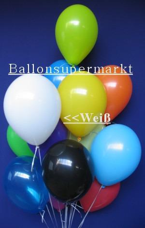 Luftballontraube Standard Rundballons Oval Weiß