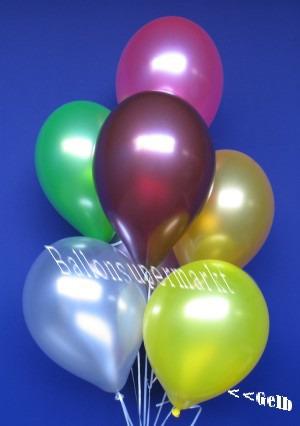 Luftballons Metaalic in Gelb