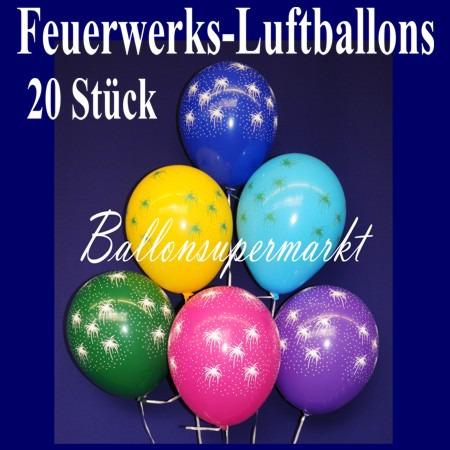 Feuerwerks-Luftballons-Silvester-20-Stueck