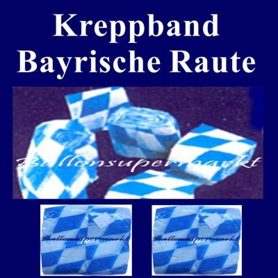 Ballonsupermarkt oktoberfest kreppband for Bayrische dekoration
