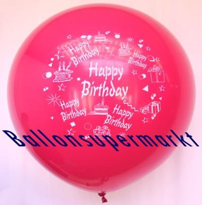 Riesen-Geburtstagsballon-Rot
