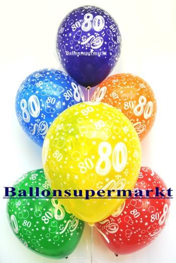 Zahlenluftballons-Geburtstag-80