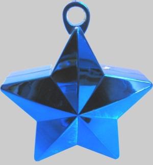 Luftballongewicht, Ballongewicht, Gewicht für Luftballons mit Helium, Stern blau
