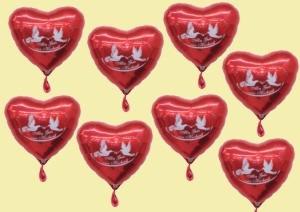 Folienballons Alles Gute Zur Hochzeit, Luftballons aus Folie mit Helium, Ballongas