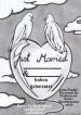 Ballonflugkarte zur Hochzeit, Just Married-Hochzeitstauben, Karten für Herzluftballons und Luftballons