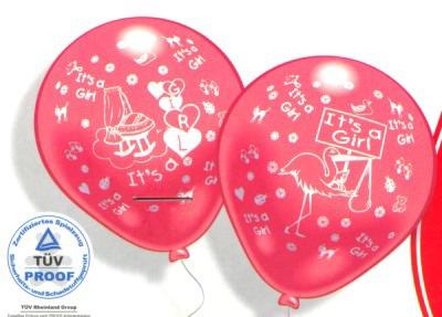 Luftballons Geburt Feiern Sie die willkommene Tochter