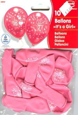 Luftballons Geburt It is a Girl