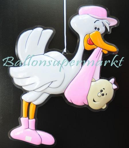 Deko-Feier-Geburt-Taufe-Storch-Maedchen