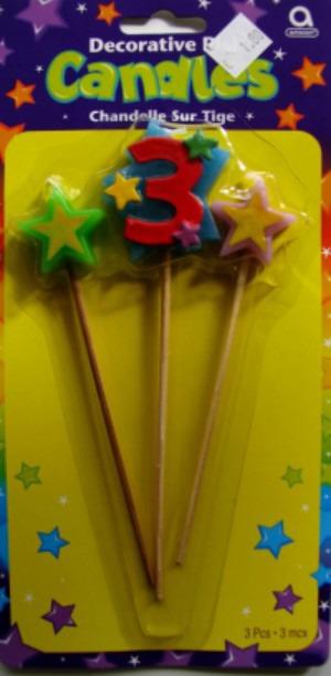 Geburtstagskerze Geburtstagszahl 3