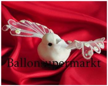 Hochzeit: Tischdeko mit Tauben