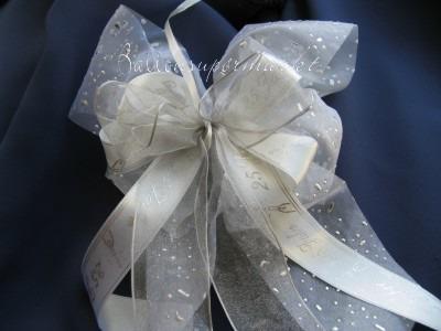 Hochzeitsdeko Zierschleife, Silberne Hochzeit