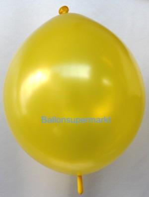 Girlandenballon-Kettenballon-Gelb-Metallicfarben