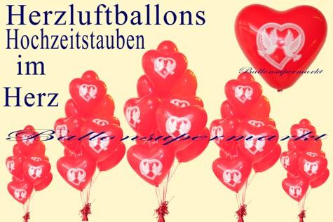 Herzluftballons-Hochzeitstauben-im-Herz