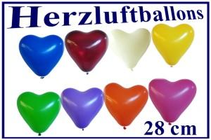 Luftballons Herzen, Herzluftballons iin 28 cm