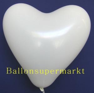 Herzluftballons Weiß