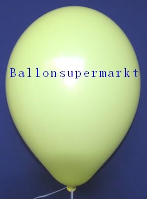 Luftballons Rundballons Oval Zitronengelb
