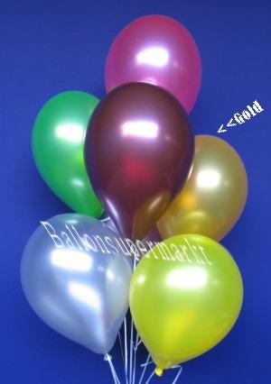 Metallicfarbene Luftballons in Gold