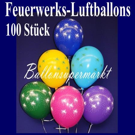 Feuerwerks-Luftballons-Silvester-100-Stueck