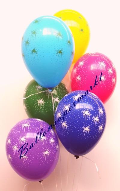 Silvesterballons-mit-Feuerwerk
