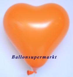 Orangener-Herzluftballon-Mini