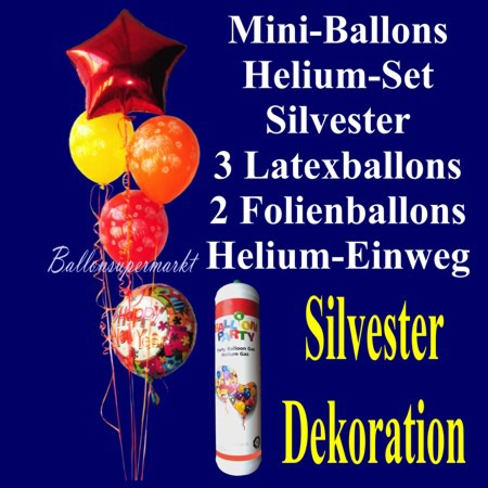 Mini-Ballons-Helium-Set-Silvester-Ballondekoration-Happy-New-Year