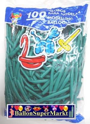 Modellierballons, Luftballons zum Modellieren, grün-100 Stück
