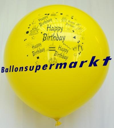 Riesen-Geburtstagsballon-Gelb