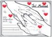Ballonflugkarte zur Hochzeit, Karten für Herzluftballons und Luftballons