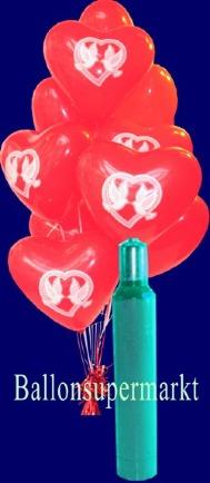 Herzluftballons-mit-Hochzeitstauben-10-Liter-Helium