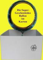 Silberne Hochzeit Luftballon mit Helium zum Versand im Karton