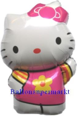 Luftballon Hello Kitty Folienballon die weiße Katze mit der roten Schleife