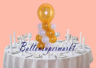 Tischdeko-Silvester-Creme-Weiss-Gold-Stars-Luftballons