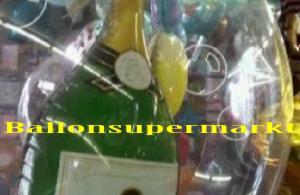 Champagnerflasche im Luftballon