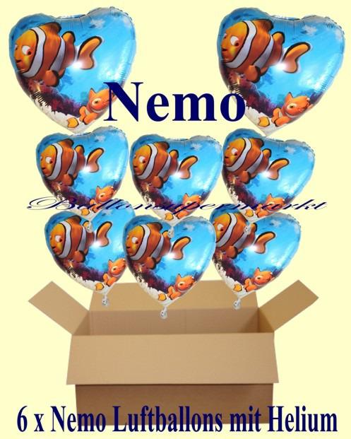Geschenkidee-Kindergeburtstag-Nemo-Clownfisch-Herzluftballons-mit-Helium